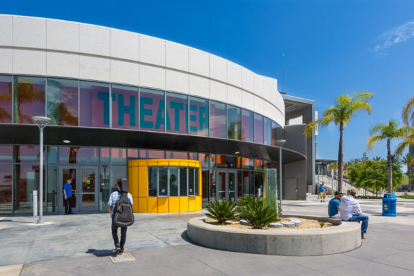 LA SW College School Theater front entrance