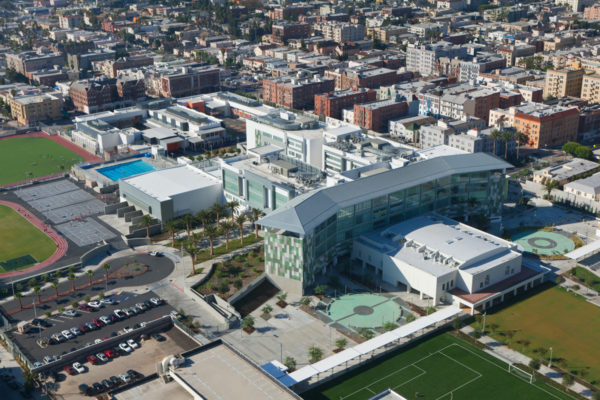 LAUSD RFK Community Schools aerial view of compound