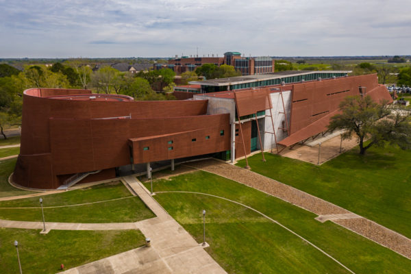 N.A. Kennedy building exterior aerial view