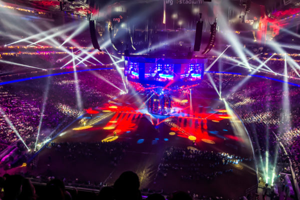 NRG Stadium concert with lights