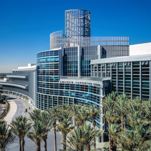 Anaheim Convention Center is a palace of glass and steel