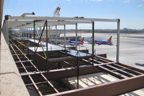 Picture of Sky Harbor Airport and various metals