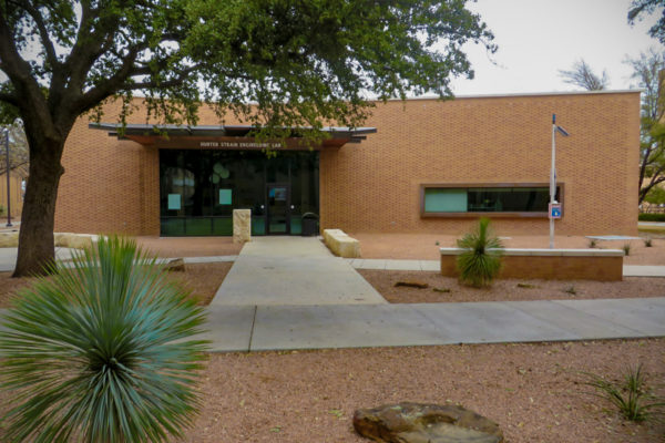 ASU Hunter Strain Engineering Lab front entrance and landscaping