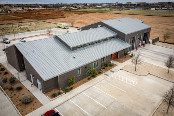 Fire Station #10 above drone view