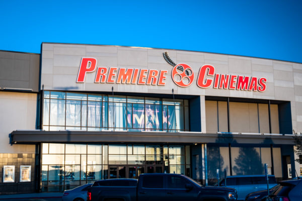 Premiere Cinemas front entrance and sign