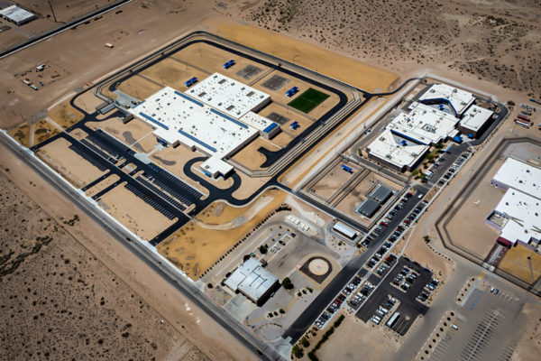 Adelanto ICE Processing Center aerial view