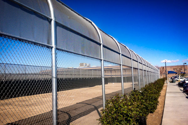 Adelanto ICE Processing Center chain link fence