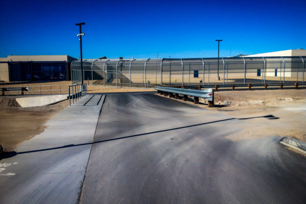 Adelanto ICE Processing Center view of street