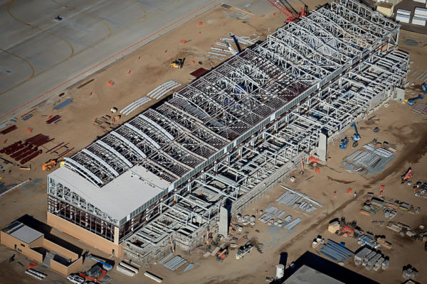 P750 Hanger view from drone