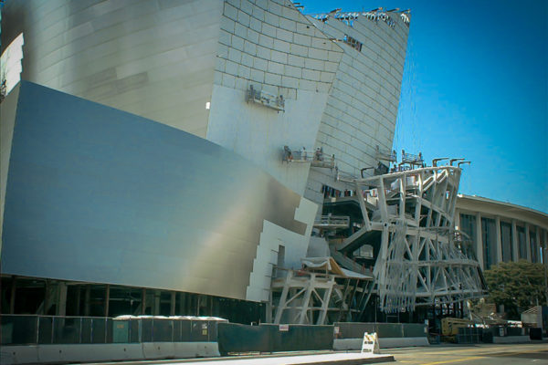 Disney Concert Hall under construction