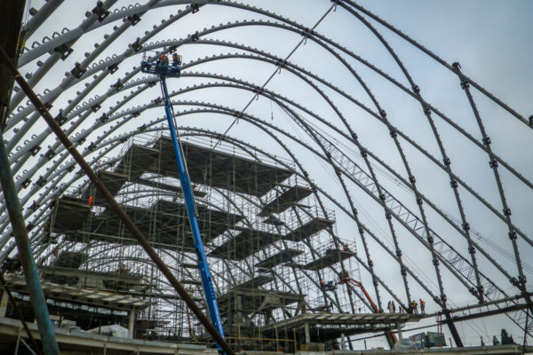 ARTIC arching beams with construction