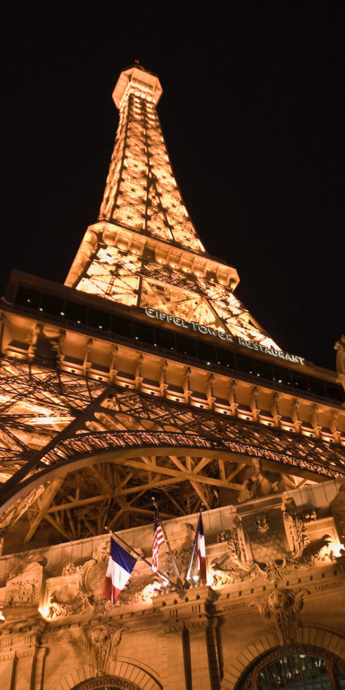 Las Vegas, Eiffel Tower and Paris Hotel