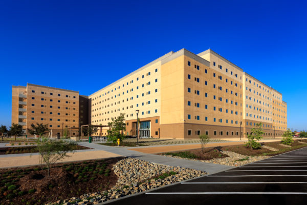 Andrew Mills Hall Exterior view and landscaping