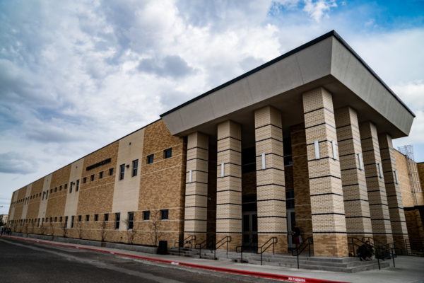 Permian High School street and front entrance