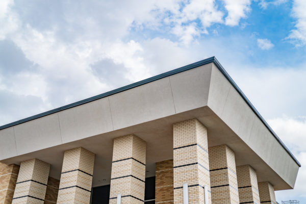 Permian High School roof and pillars