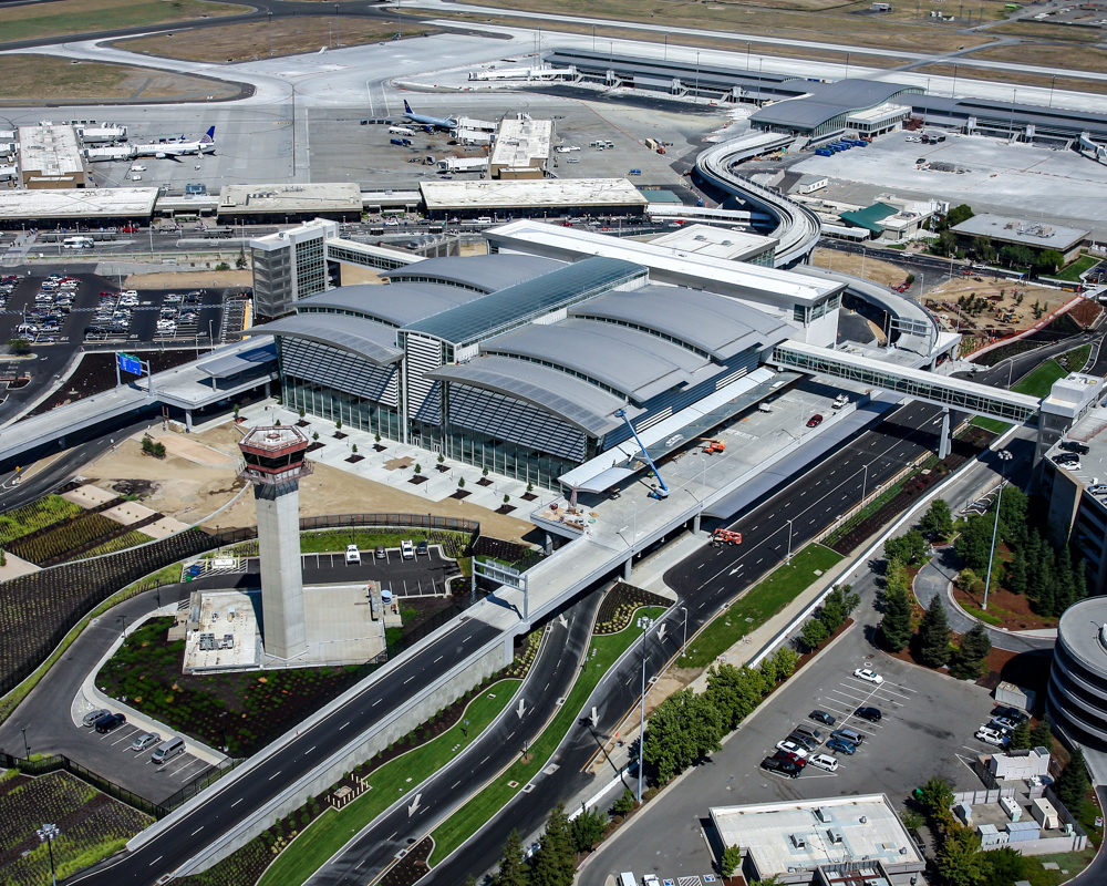 Sacramento International Airport aerial view