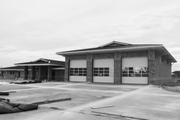 Fire Station #4 bays and lot
