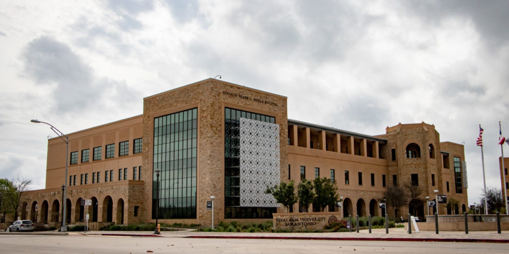 Texas A&M Multipurpose Building 3 quarter view