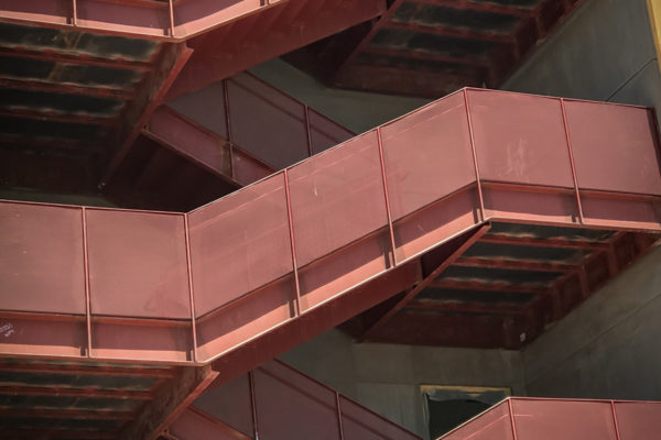 UNLV red metal staircases